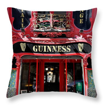 Throw Pillow featuring the photograph Guinness Beer 5 by Andrew Fare