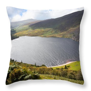 Guinness Lake In Wicklow Mountains  Ireland Throw Pillow by Semmick Photo
