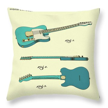 Guitar 1951 Throw Pillow