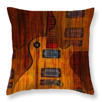 Guitar Army Throw Pillow by Bill Cannon