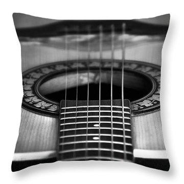 Guitar Close Up Throw Pillow by Svetlana Sewell
