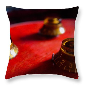 Guitar Controls Series Throw Pillow