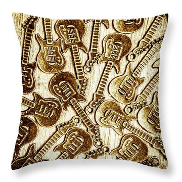 Guitar Echo Chamber Throw Pillow