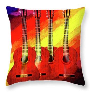 Guitar Fantasy One Throw Pillow