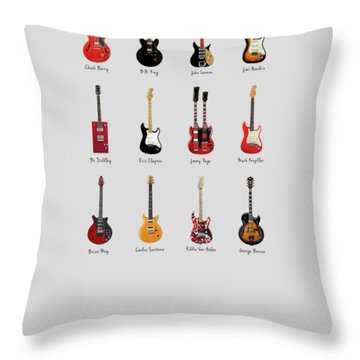 Guitar Icons No1 Throw Pillow by Mark Rogan