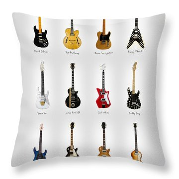 Guitar Icons No2 Throw Pillow by Mark Rogan