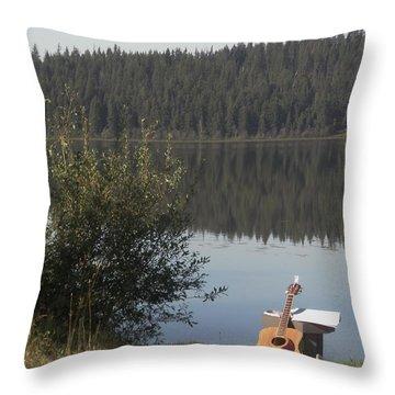 Guitar Lake Throw Pillow