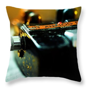 Guitar Pedal Throw Pillow