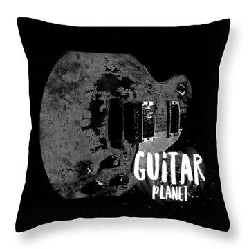 Throw Pillow featuring the photograph Guitar Planet  by Guitar Wacky