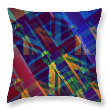 Guitar Revolution Throw Pillow by Bill Cannon
