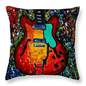 Guitar Scene Throw Pillow