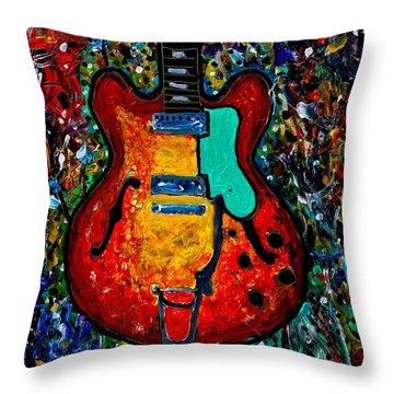 Guitar Scene Throw Pillow