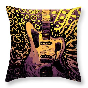Guitar Slinger Throw Pillow