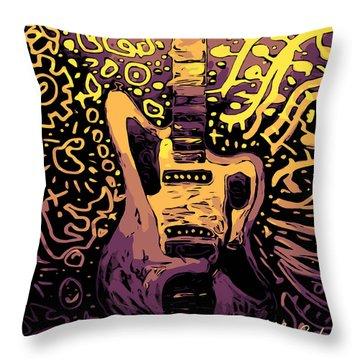 Guitar Slinger Throw Pillow