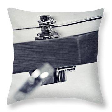guitar V Throw Pillow by Priska Wettstein