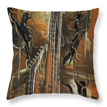 Guitar World Throw Pillow