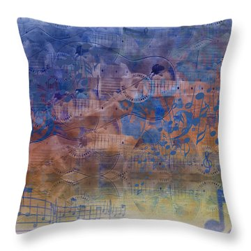 Guitargasm Throw Pillow by Bill Cannon