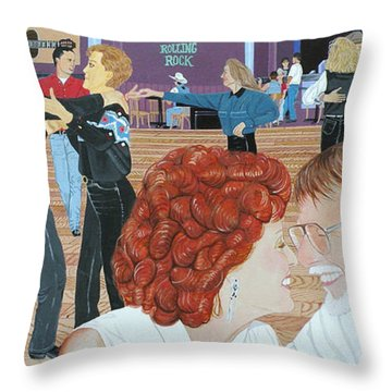 Guitars And Cadillacs Omaha Throw Pillow by Christine Belt