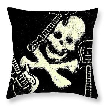 Guitars Of Black Metal Throw Pillow