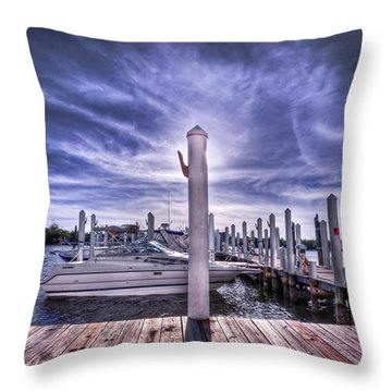 Gulf Coast Blues Throw Pillow