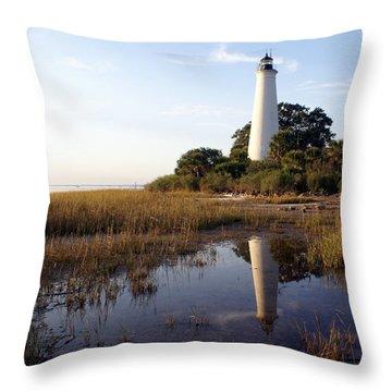 Gulf Coast Lighthouse2  Throw Pillow by Marty Koch