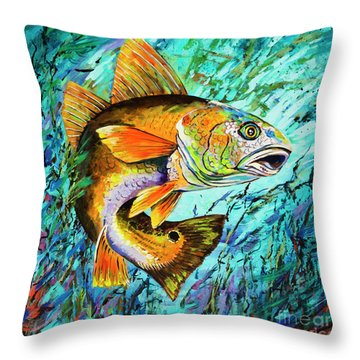 Gulf Coast Red Throw Pillow by Dianne Parks