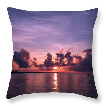 Gulf Coast Sunrise Throw Pillow by Brian Wright
