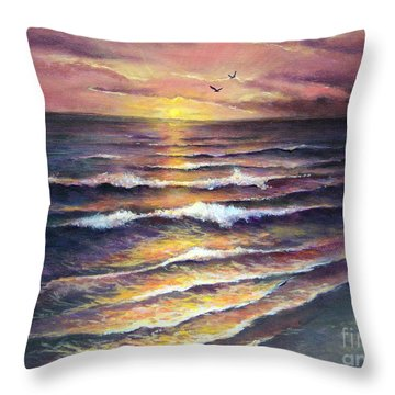 Gulf Coast Sunset Throw Pillow