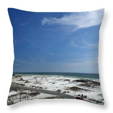 Gulf Of Mexico At Pensacola Beach Throw Pillow