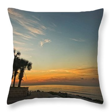 Gulf Of Mexico Sunrise Throw Pillow
