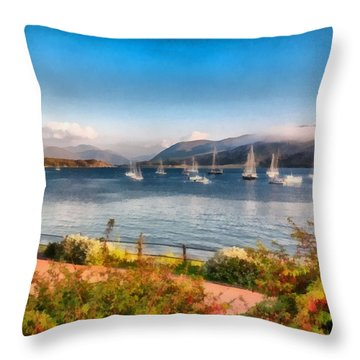 Gulf Of  Ullapool      Throw Pillow by Sergey Simanovsky