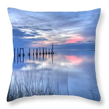Gulf Reflections Throw Pillow