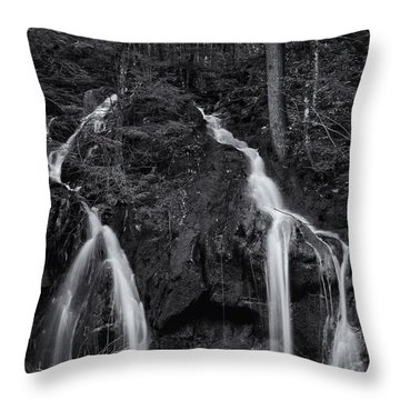 Throw Pillow featuring the photograph Gulf Road Waterfall by Tom Singleton