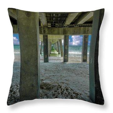 Gulf Shores Park And Pier Al 1649 Throw Pillow