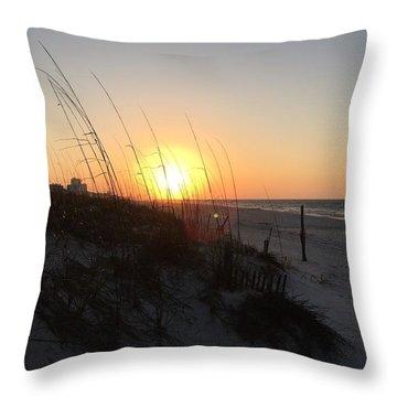 Gulf Shores Sunrise  Throw Pillow