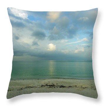 Gulf Storm Throw Pillow by Judy Wanamaker