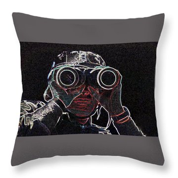 Throw Pillow featuring the mixed media Gulf War by Charles Shoup