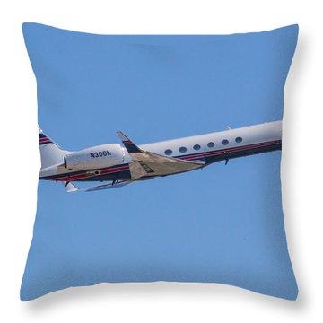 Gulfstream Gv Private Jet Throw Pillow