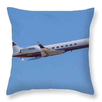 Gulfstream Gv Private Jet Throw Pillow