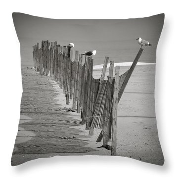 Gull Fence Throw Pillow