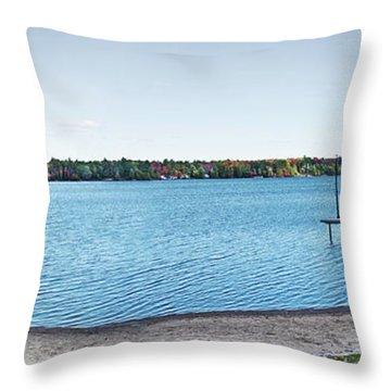 Gull Lake Panorama Throw Pillow