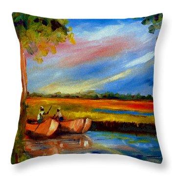Gullah Lowcountry Sc Throw Pillow by Phil Burton