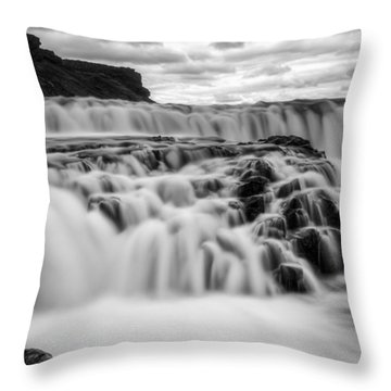 Gullfoss Throw Pillow