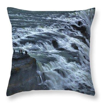 Gullfoss Waterfall #6 - Iceland Throw Pillow