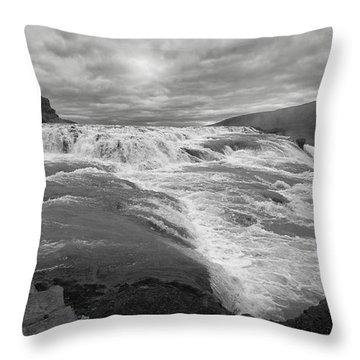Throw Pillow featuring the photograph Gullfoss Waterfall No. 1 by Joe Bonita