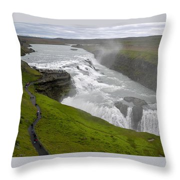 Throw Pillow featuring the photograph Gullfoss Waterfall No. 2 by Joe Bonita