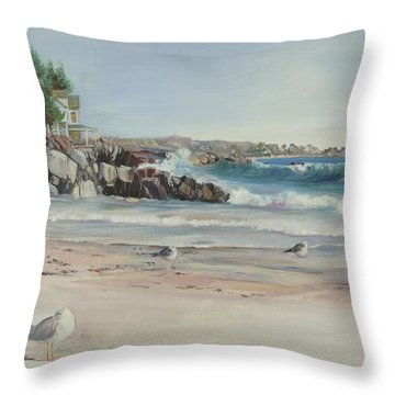 Gulls At Rest Throw Pillow