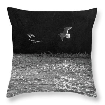 Gulls On The River Throw Pillow