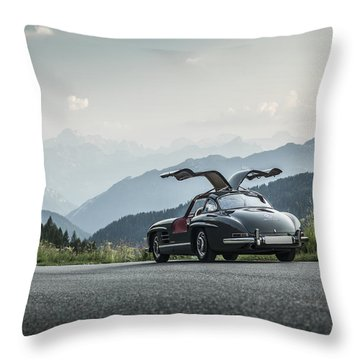 Gullwing In The Mountains Throw Pillow