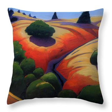 Throw Pillow featuring the painting Gully by Gary Coleman